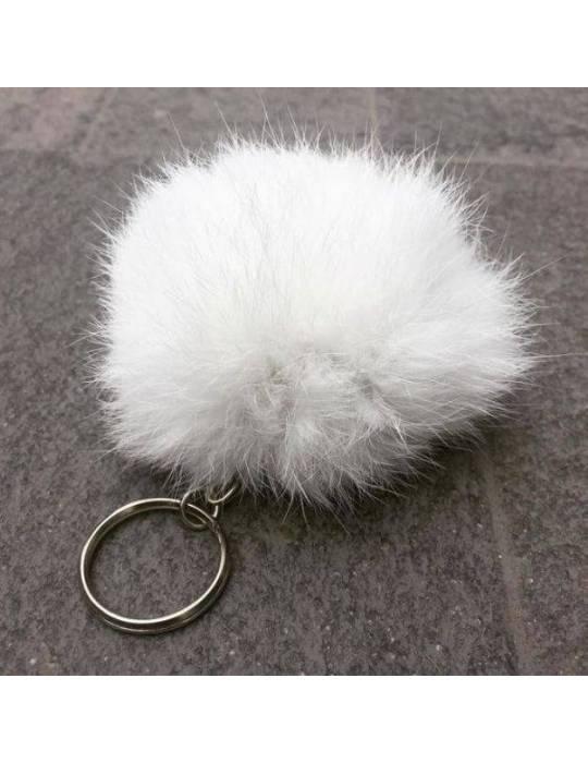 White Fur Keychain Ariana