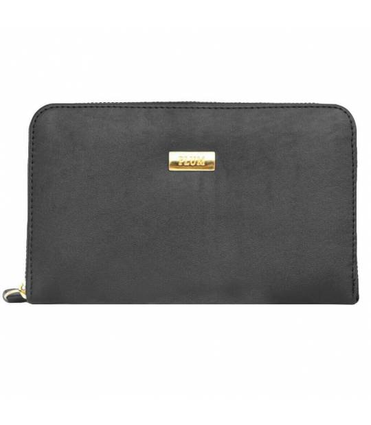 Black leather wallet Rosa