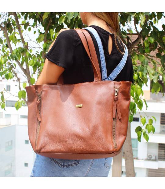 Brown Leather Handbag Tatiana