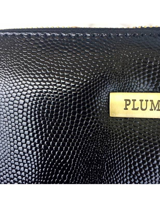Black and Gold Leater Wallet Chiara by Plum