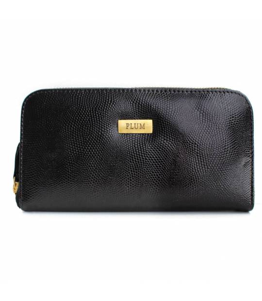 Black Leather Wallet Chiara