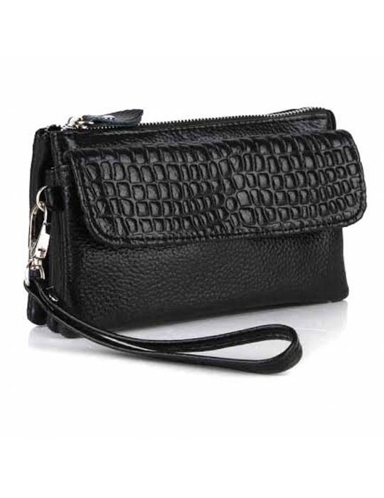 Black Leather Handbag Jill